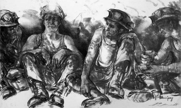 Miners taking a break
