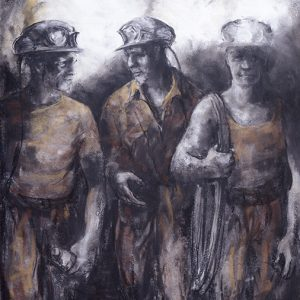 Trio of Miners by Valerie Ganz