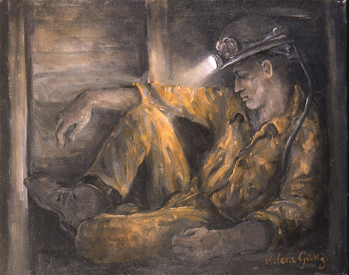 Miner Resting