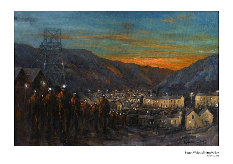 South Wales Mining Valley small print